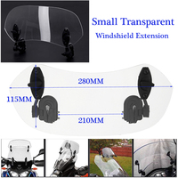 1X Universal Adjustable Clip On Windshield Spoiler Wind Deflector For Motorcycle