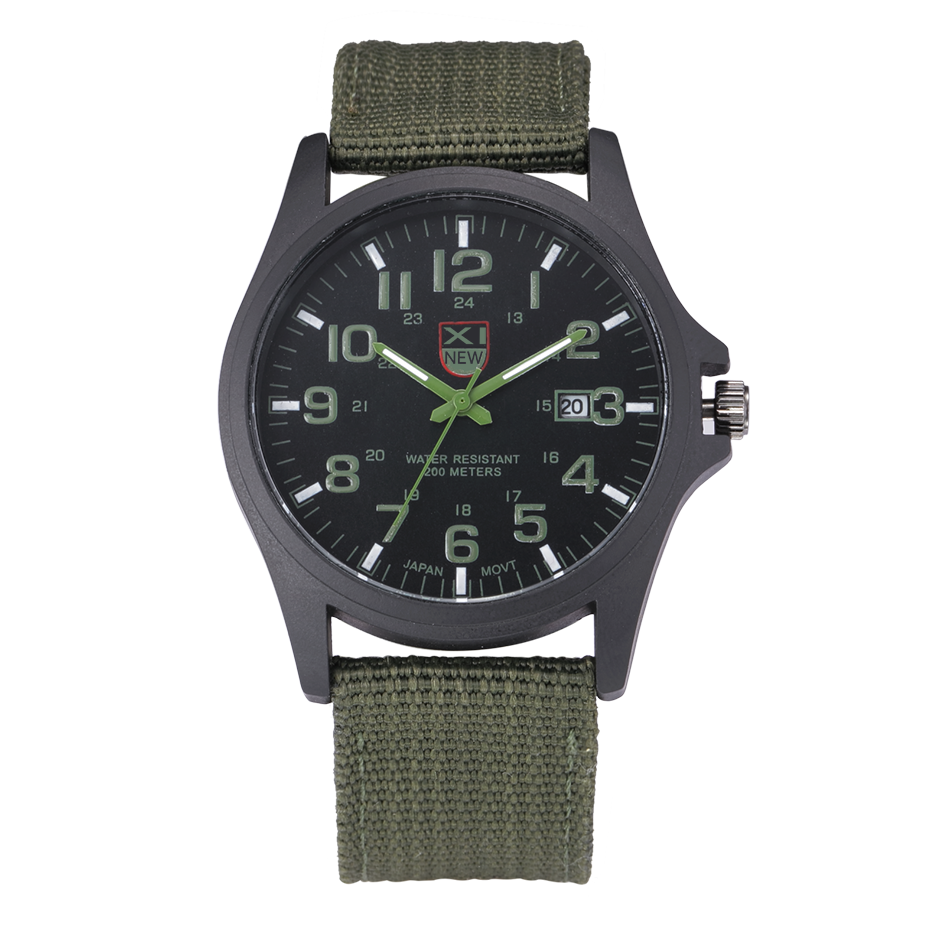 2018 New Arrival Famous Brand XINEW Quartz Watch Men Army Green Nylon Strap Casual Wristwatches Relogio Masculino Marca Original