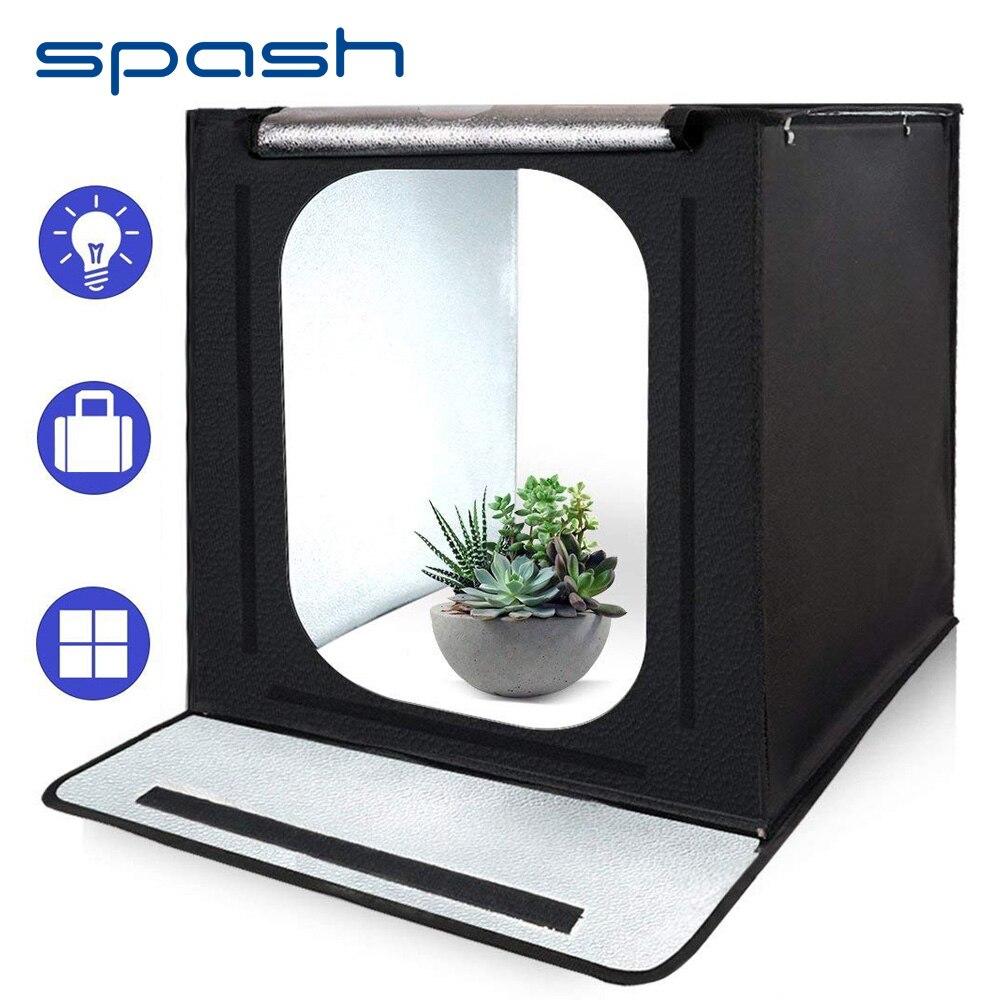 Spash F40 Портативный фотостудия llightbox 40 см 5500 К CRI95 Фото Box Лайтбокс для фотографии тент для съемки Мини Складная студия