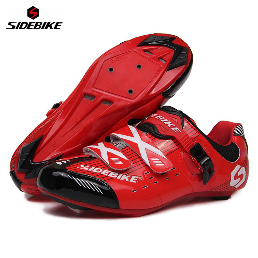 SIDEBIKE Professional Bicycle Cycling Air-flow Vents Soles Shoe Road Bike Racing Self-Locking Shoes Outdoor Sports Athlete Shoes professional sports kneepad warm air drying
