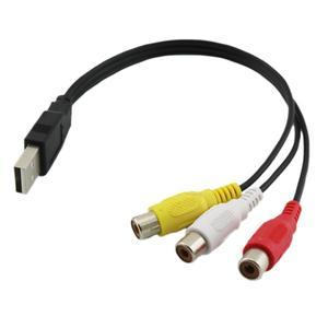 Image 2 - 1pc の usb 雄プラグに 3 Rca メスアダプタオーディオコンバータビデオの AV の A/V ケーブル USB に RCA ケーブル hdtv テレビテレビワイヤーコード