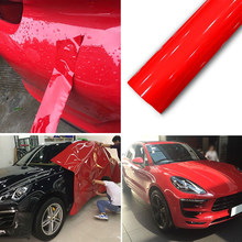 Exterior Decor Air Bubble Free UV resistant Gloss Red sticker Vinyl Film Waterproof(China)