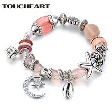 Женский браслет с бусинами toucheart sbr180082 подвесками в