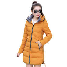 7XL Ukraine Female Winter Plus Size Down Cotton Jacket Women Padded Hooded Long Coat 2017Fashion Woman Parka Manteau Femme Hiver
