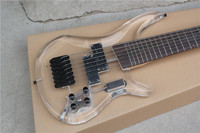 free shipping 7 string electric bass transparent bass acrylic 7strings bass