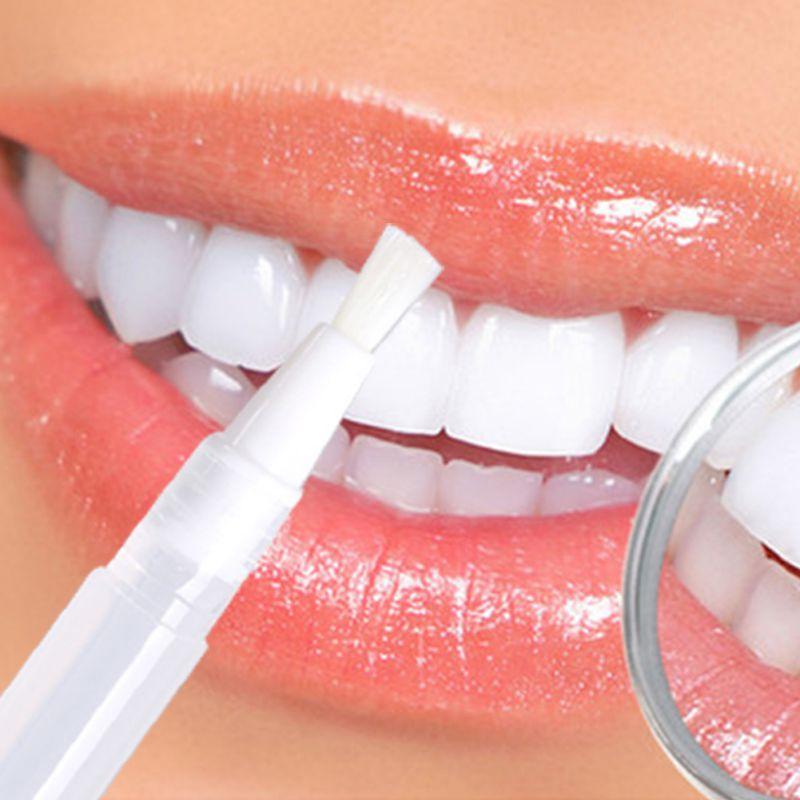 ᗑ 2 Ml Branco Transparente Dentes Branqueamento Caneta Gel