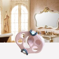 5Pcs Set Elegant Lady Makeup Bathroom Toiletries Kit Creative Resin Bathroom Accessories Washing Set Wedding Decoration
