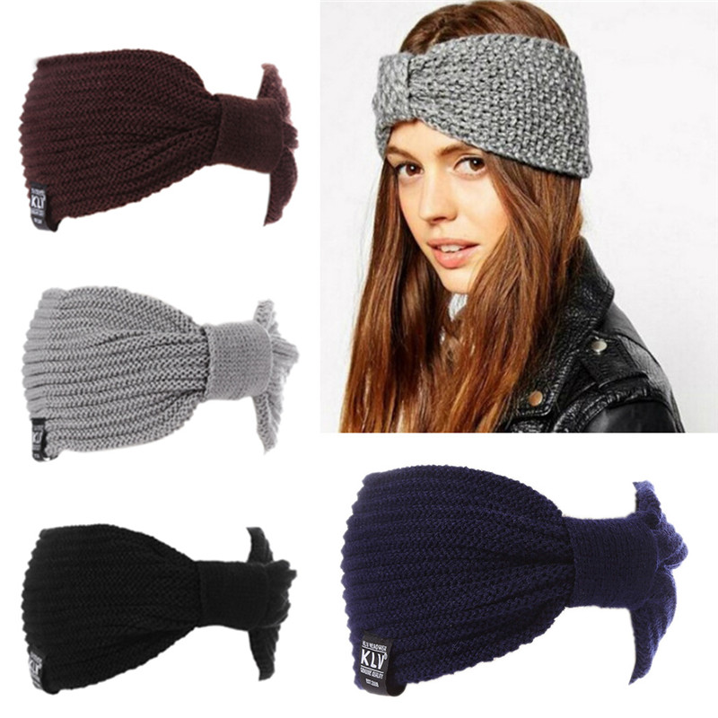 Fancy 2018 Winter Womens Ear Warmer Crochet Turban Knit Wool Head Wrap  Hairband Headband Headwear Female Hair Band Accessories-in Women s Hair  Accessories ... 5ec627e8b033