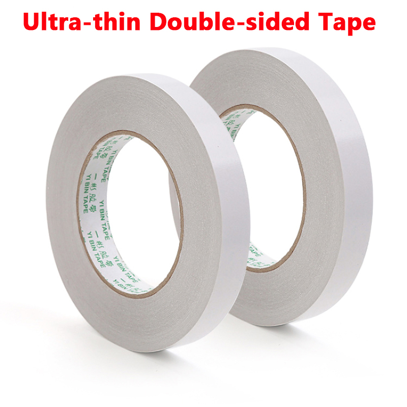 8m White Double Sided Adhesive Tape Two Side Paper Super Sticky Strong Ultra-thin High-adhesive Cotton Double-sided Tape