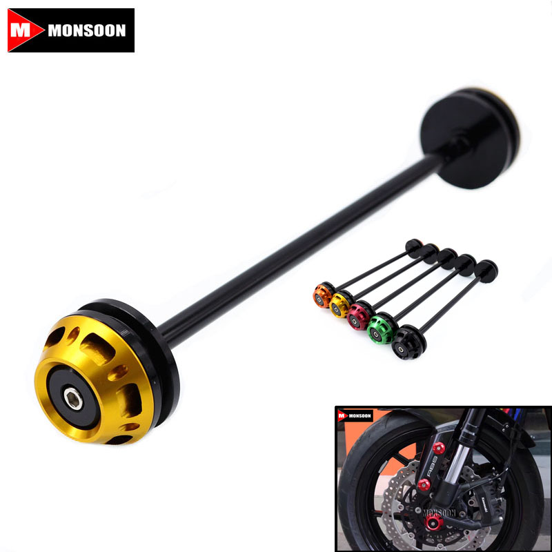 For Kawasaki Z800 Z 800 2013-2016 Z1000 Z 1000 14-17 Motorcycle Accessories Front Axle Fork Crash Sliders Wheel Protector Gold