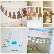 Cartoon Rabbit Animal  Decor Banner Kids Big Happy Family Baby Shower  Decorations Kids Room