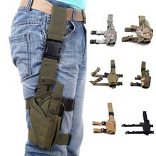 Adjustable Pistol Gun Drop Thigh Holster Pouch Hunting Military Nylon Accessories For Glock 17 19 Beretta M9