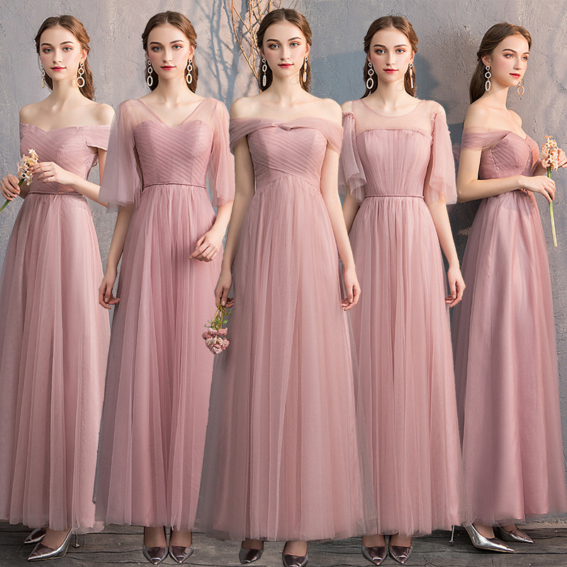 Beauty Lace Bridesmaid Dresses 2019 Long Plus Size for Women A-Line Sleeveless Wedding Event Party Prom Girl Dresses