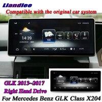 Liandlee для Mercedes Benz GLK GLC класса X253 2013 ~ 2017 правым оригинальный Системы радио gps Nav карта навигация Мультимедиа