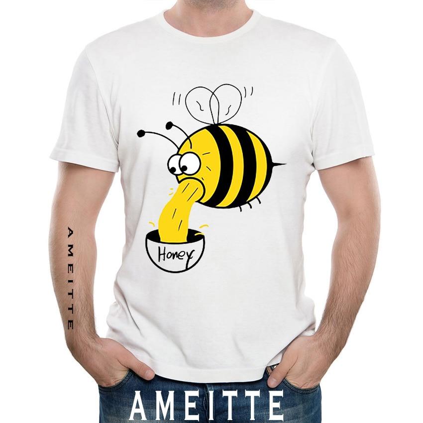 Funny Honey Bees Boys 3D Print Creative Short Sleeve Tee