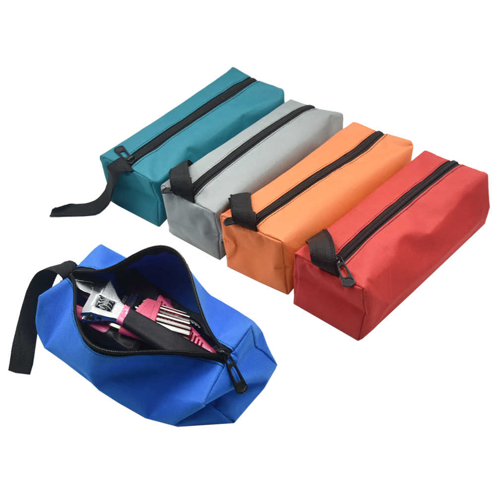 Portable Electrician Storage Tool Bag Oxford Canvas Waterproof Drill Bit Metal Parts Travel Makeup Organizers Utility Toolkit