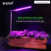 WEGA Wzrostu Roślin Lampa Full Spectrum i Czerwone Światło Niebieskie Mieszania Do Akwarium Wegetatywnego Wody Kwiaty Orchidei Lampa LED Roślin