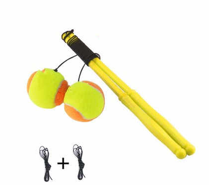 Square Fitness tennis balls with rod handle throwing arm swing exercise bouncing movement