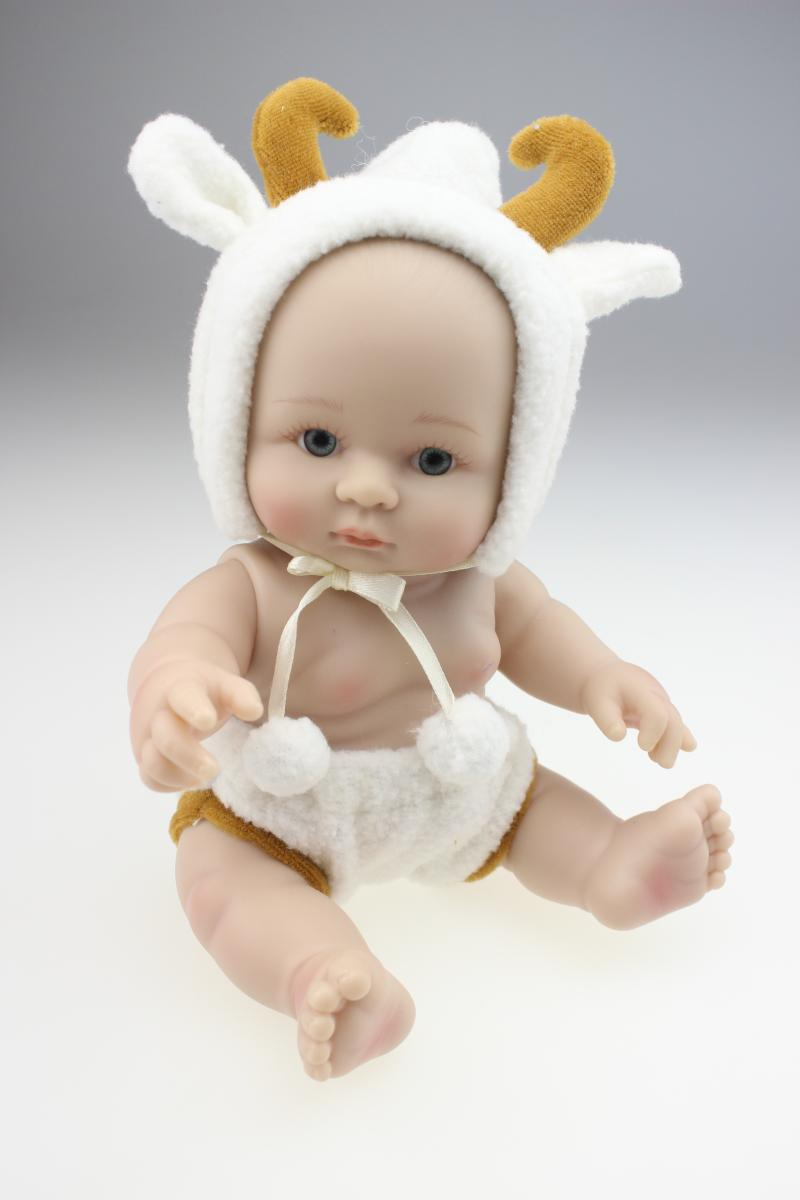 Full body silicone baby for sale 2015 - Cute Silicone Dolls Babies Toys For Children Christmas Present Lifelike Baby Reborn Dolls 25 Cm 10 Inch Free Shipping In Dolls From Toys Hobbies On