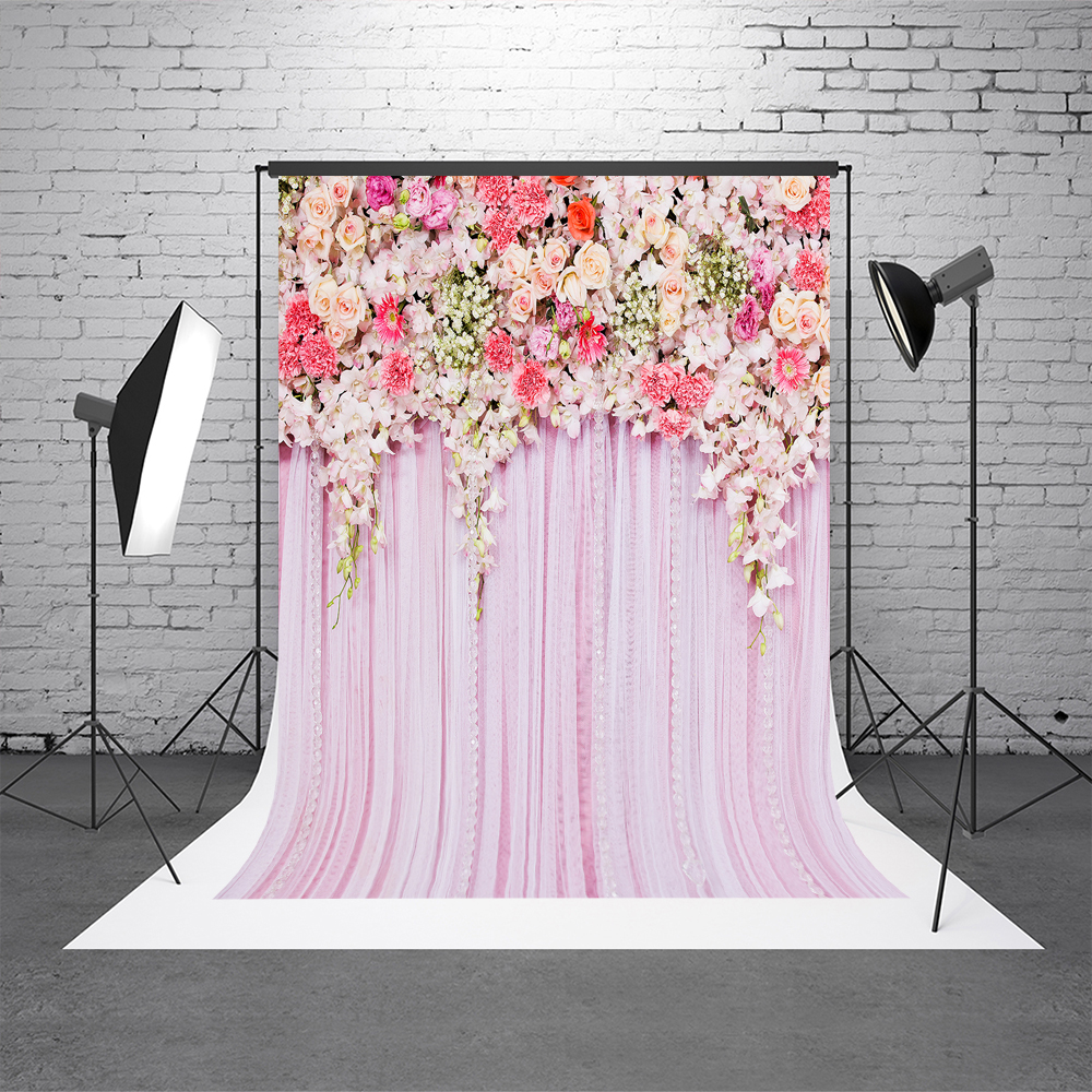 VinylBDS Photo Background Wedding Backdrop 20FT Pink Photography ...