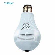 YuBeter 960p 1080P 360 lámpara de cámara de seguridad wifi bombilla panorámica IP vídeo CCTV vigilancia ojo de pez HD Visión Nocturna Audio bidireccional