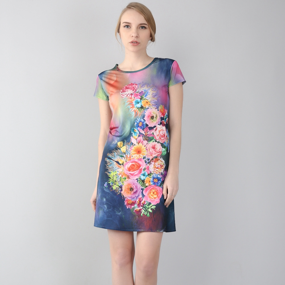 e9c67634e74 2018 New Arrival beautiful plus size big size 7XL Stereo printing summer  Dresses women one piece dress Tops Tees-in T-Shirts from Women s Clothing  ...