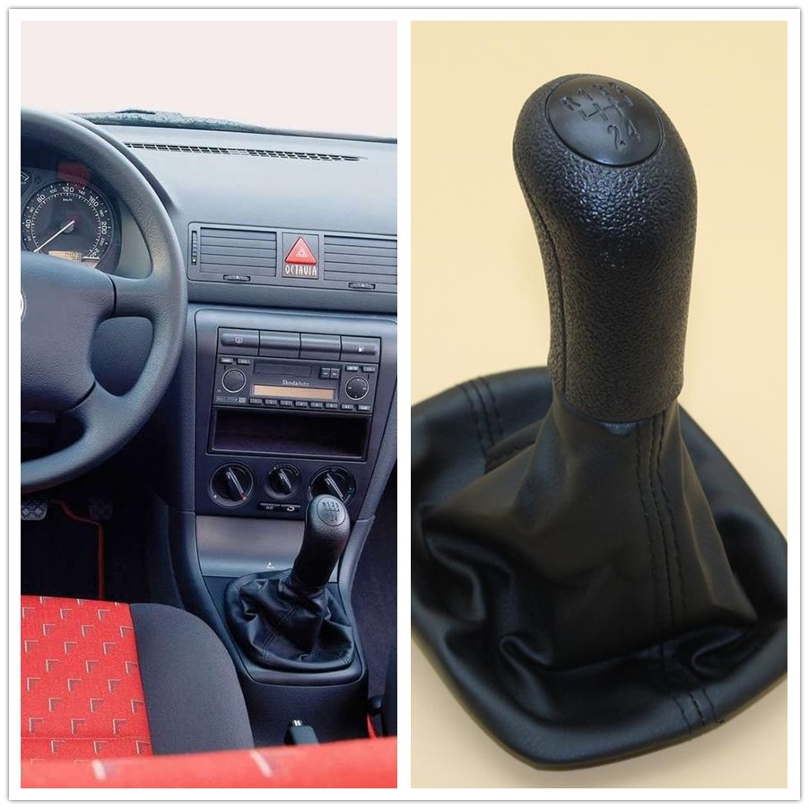 5 Speed Gear Stick Shift Knob For Skoda Octavia A4 Sedan 1996 1997 1998 1999 2000 2001 2002 2003 2004 2005 2006 2007 2008 2009