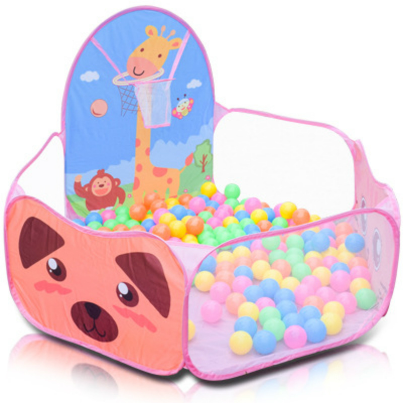 BabyAngel Children Baby Ocean Ball Pit Pool Game Play Tent Inflatable Pool Toy In/Outdoor Kids House Play Hut Pool Play Tent