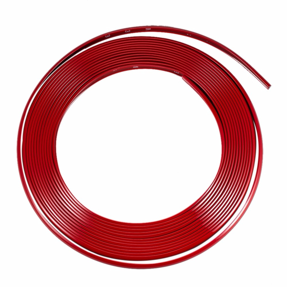 8M Car Wheel Rim Sticker PVC Auto Vehicle Wheel Rim Protector Tire Guard Line Styling Moulding Stickers Covers