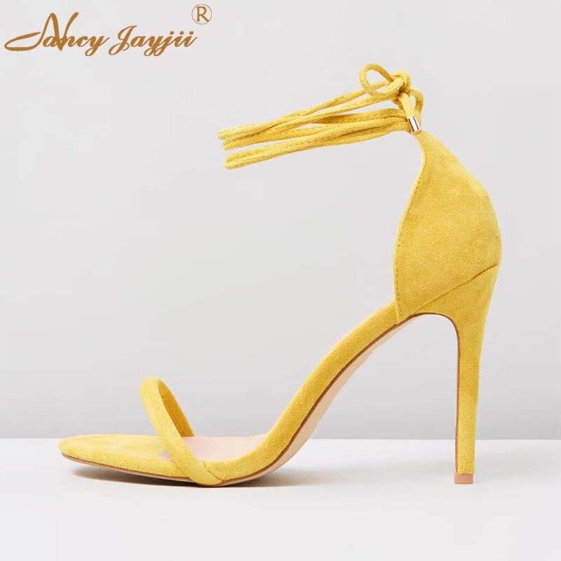 Las Correa Zapatos Señoras Moda Super 2019 Ty01 Tobillo Básico Encaje La  Elegante De Cubierta Delgados Boda Mujer Sandalias fiesta Alta Tacones ... f10ba6bd6ce6