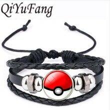 Qiyufang модные Цвет браслет Покемон мяч себе цепь браслет Новые Винтаж Стиль браслет