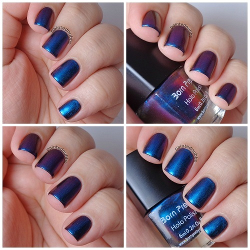 1 bottle 6ml Born Pretty Chameleon Purple Blue Nail Polish Varnish Polish High Quality (Black Base Color Needed)