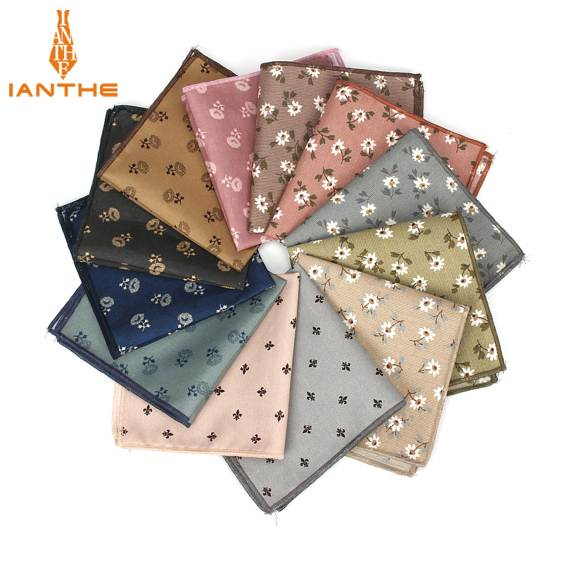 2018 Brand New Mens Classic Handkerchief Floral Print Pocket Square Wedding Party Suits Hankies For Men Pocket Towel Hanky