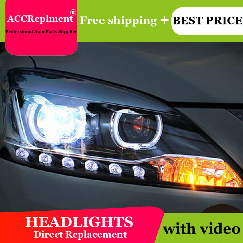 Car Styling LED Head Lamp for Nissan Almera headlights 2013 Sentra led headlight Sylphy drl H7 hid Q5 Bi-Xenon Lens low beam auto part style led head lamp for nissan x trail led 14 15 headlights for x trail drl h7 hid bi xenon lens angel eye low beam