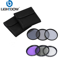 Комплект светофильтров Lightdow 6 в 1 UV+ CPL+ FLD+ ND 2 4 8 49 мм 52 мм 55 мм 58 мм 62 мм 67 мм 72 мм 77 мм для Canon Nikon