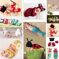Newborn-12M Baby Girl Boy Crochet Knit Mermail Minnie Costume Photo Props Outfit