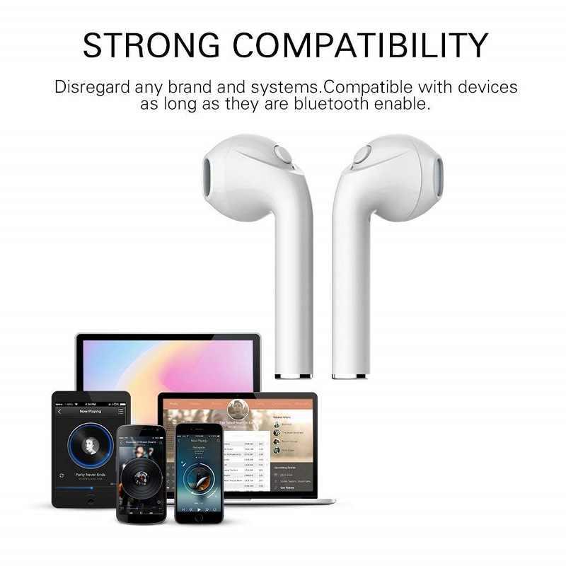 I7s Tws 5.0 Mini bezprzewodowy zestaw słuchawkowy Bluetooth słuchawki douszne słuchawki dla Huawei Honor 10 10i 2 3 3C 3X V8 muzyki mikrofonem okno ładowania