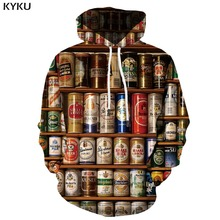 3d Hoodies Beer Hoodie Men Metal Hoody Anime Harajuku Print Food Sweatshirt Printed Gothic Unisex Streetwear