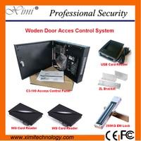 Одна дверь две стороны деревянные двери смарт карта блокировка дверей Управление доступом системы tcp/ip Бесплатная Программное обеспечение