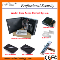 One Door Two Sides Wooden Door Smart Card Door Lock Access Control Systems TCP/IP Free Software Biometric Access Control Reader
