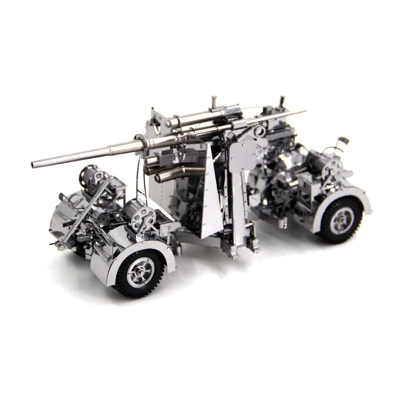 Piececool 3D Metal Puzzle German 88 air defense anti tank artillery Model DIY Laser Cutting Assemble Jigsaw Toy GIFT For Adults mu art mold metal nanos puzzle star craft protoss immortal model kit diy 3d laser cut assemble jigsaw toys for audit and kids