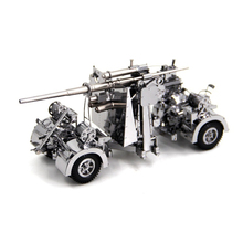 Piececool 3D Metal Puzzle German 88 air defense anti tank artillery Model DIY Laser Cutting Assemble Jigsaw Toy GIFT For Adults цена