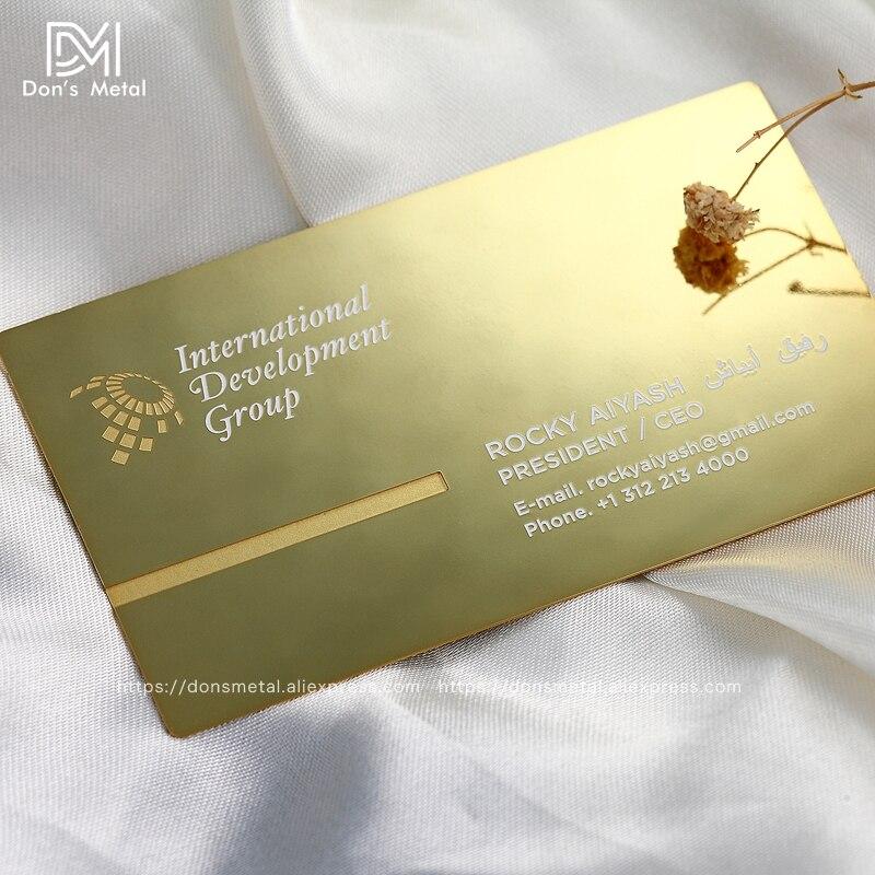 Metal business card metal membership card design mirror metal ...