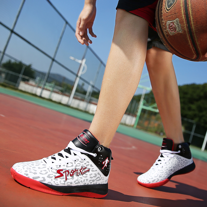 Hot Sell Sport Shoes Men Basketball Shoes High Top Super Outdoor Waterproof PU Athletic Hard Court Sports Jordan Sneakers