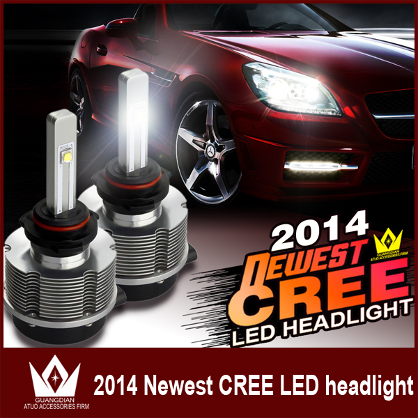 ФОТО Guang Dian car led light 9005 HB3 20w 2400LM auto LED Headlight Conversion Kit Upgrade 6000K high beam low beam hi/low