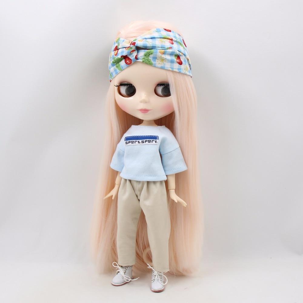 Neo Blythe Doll Oversize White Shirt & Pants With Hairband & Handbag 2
