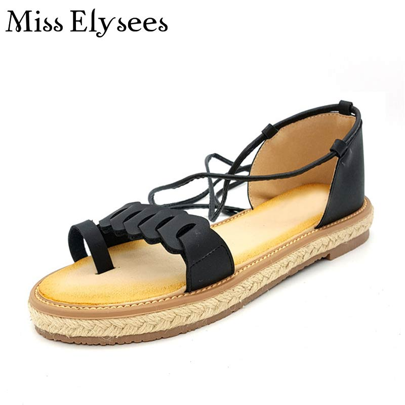 8544f3f3341 2017 New Arrival Rome Style Gladiator Sandal Shoes For Women Cross Strap  Rope Strew Flip Flops Flats Woman Casual Travel Sandals-in Women s Sandals  from ...