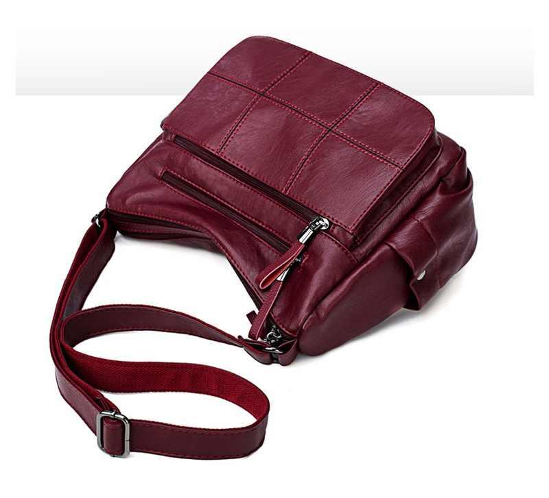 Bolsos de cuero genuino de las mujeres de moda bolso de la momia bolsos con cadena de hombro ocasionales bolsos de bandolera de las señoras bolsos de Mensajero de la vendimia N365