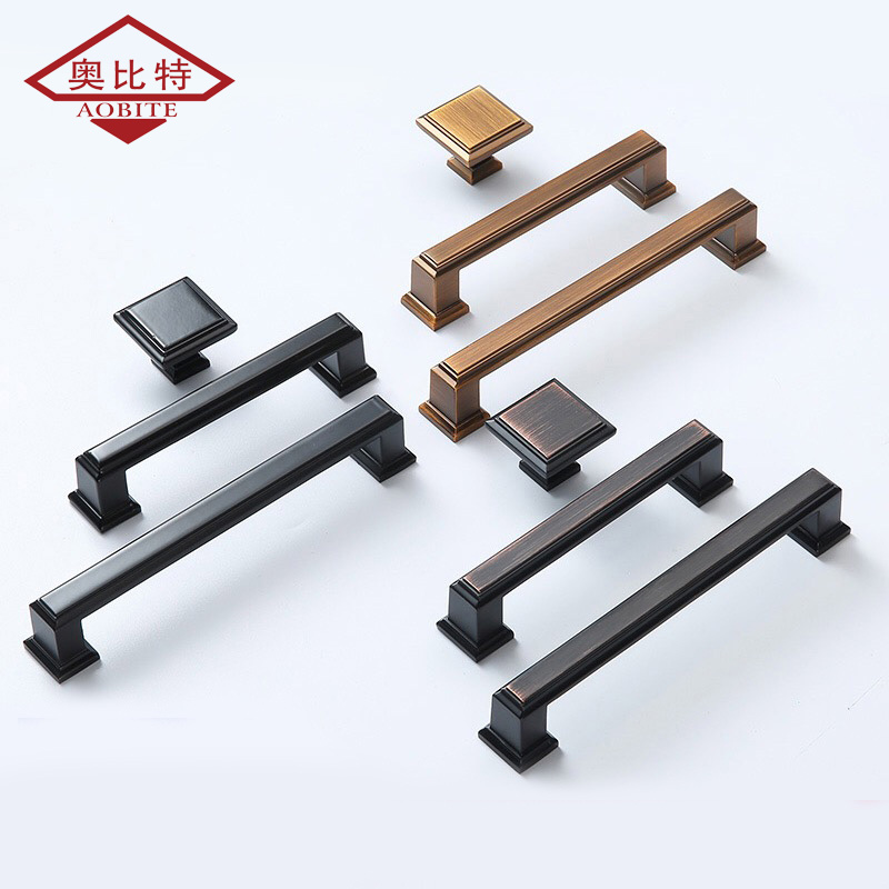 AOBITE Brass Black Cupboard Handle Closet Wardrobe Handles Cabinet Door Drawer Pens Modern Simple Mini Small Knobs 6087