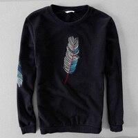 Spanish Long Sleeved 100 Cotton Men Hoodies Embroidery Brand Sweatshirt Men Casual Fashion Mens Hoodie Business